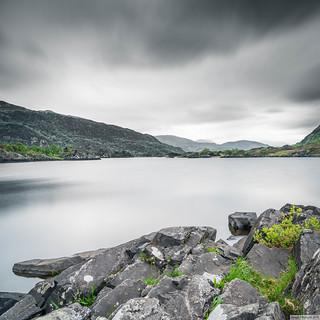 Killarney lake on a grey, May day, 2018.