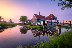 Say Cheese (martijnvdnat) Tags: buildingexterior builtstructure cultures dutch house mill netherlands ruralscene summer windmill zaanseschans architecture bank bridge building canal cottage dutchculture evening grass history hotel housing lake landscape morning nature noperson old outdoor outdoors pond reflection river sky tourism travel tree water waterway zaandam