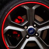 red (amazingstoker) Tags: red car wheel alloy brake disc shoe ford shine rust steel tyre caliper tubeless