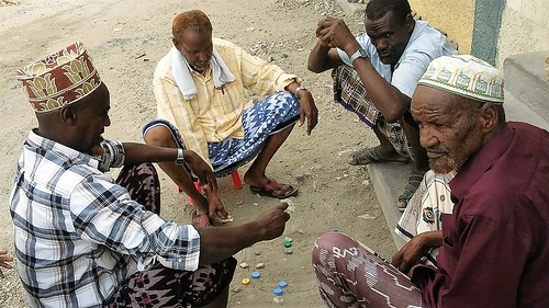 Old men playing a