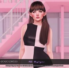 :: MS Design :: GoGo Dress (Maddison Skute) Tags: 60s peace msdesign cute kawaii gogo dress earrings earring secondlife sl secondlifephoto slblogger slblog secondlifeblog rewind summeroflove