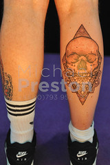 Leg Tattoo 2 (cloudwalker_3) Tags: 2018 adults alexandrapalace alternative art artistic arts bizarre black bodies body bodyadornment bodyart bodypaint britain conventions culture decoration design diamond drawing england events fashion gb geometric graphic greatbritain humaninterest illustration ink inked lifestyles london males man men needle photo photograph pic picture skin skull style subculture tattoo tattooed tattooer tattooing tattooist tattooists tattoos thegreatbritishtattooshow traditional traditions uk unitedkingdom