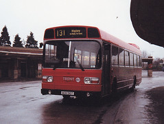 Bus Print 0017 510 ACH510T Trent Derby Bus Station 12.1988 (31417) Tags: 510 ach510t trent derby leyland national
