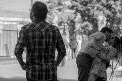 More or less ordinary (rsvatox) Tags: streetphotography kiss people couple streetphotographer saintpetersburg nocolor pople blackandwhite monochrome russia
