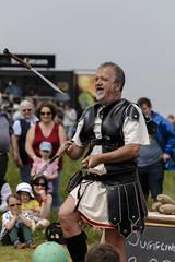 What A Palaver (Crisp-13) Tags: what palaver juggling juggle juggler old sarum salisbury wiltshire english heritage clash romans roman knives knife
