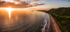 Sunset at Rhossili Bay