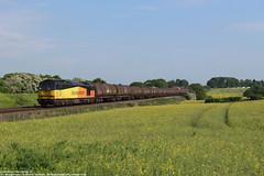 Colas Rail 60056 - Irchester (UK) 23-05-2018. (NovioSites) Tags: colasrail 60056 class60 ketelwagens loc locomotive trein train rail uk lindseyoilrefinery colnbrook irchester 6e38