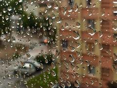 More Rain (Grenoble, France) (Haytham M.) Tags: drive cars street streets water pane window storm rain france grenoble
