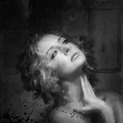 Portrait in Black and White (jimlaskowicz) Tags: jimlaskowicz monotone artistic surreal art impressionistic dream painterly textures portrait