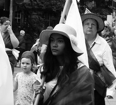 Processions Edinburgh 2018 050 (byronv2) Tags: processions processionsedinburgh edinburgh edimbourg meadows middlemeadowwalk scotland woman women candid street peoplewatching protest march rally suffragette votesforwomen 1918 2018 feminism politics vote voting portrait blackandwhite blackwhite bw monochrome