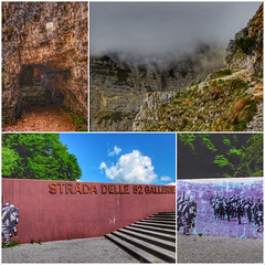 "Wanderung ""Strada delle 52 gallerie"" (norbert.gudzuhn) Tags: berge landschaft wege touren wolken schnee norbert gudzuhn italien"