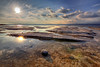 Drops of beauty (Robyn Hooz (away)) Tags: lake lago garda sole sun riflesso rocce nuvole clouds still fermo horizon italy crystal cristallo love