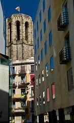 Bell Tower, Santa Maria del Pi, 15th-century Gothic church in Barcelona. (heraldeixample) Tags: heraldeixample barcelona bcn spain espanya españa spanien catalunya catalonia cataluña catalogne catalogna arquitectura architecture architekture pensaernïaeth 架构 arkitektur architettura สถาปัตยกรรม arkitettura gòtic gótico gothic església basílica basiliqur iglesia church ngc
