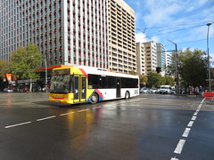 Scania L94UB 1245 turning right onto North Tce (RS 1990) Tags: scania l94ub bus kingwilliamst northtce adelaide southaustralia may 2018 1245