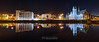 Drogheda reflections (mythicalireland) Tags: river boyne drogheda water reflection sky church dominican courthouse buildings surface night lights townscape cityscape