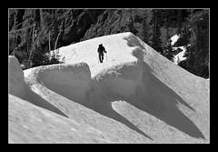Iron Peak shadows (@GilAegerter / klahini.com) Tags: nikon nikkor climbing hiking snow cornice shadows cascades 200mmf4ai