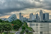 Singapore May 27, 2018: Gardens By The Bay & Singapore Flyer at sunset from Marina Barrage (per.svensson@mac.com) Tags: tourist cloudy singaporeflyer sunteccity cityscape picturesque trees pit sunset travel highrise skyscraper sky design singapore tourism hotel architecture sg ferriswheel building