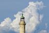La tête dans les nuages (Μonia) Tags: phare cuivre nuage couleur métal zuiko75mm em1