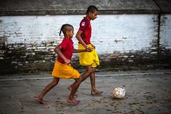 Football III (wilsonchong888) Tags: leicaaposummicronm90mmf2asph m10 leica nepal kathmandu football hindu kids streetphotography colour