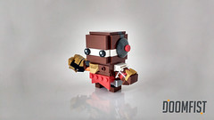 Doomfist (curtydc) Tags: brickheadz brickhead brick head blockhead overwatch roadhogh doomfist moc cute toy kawaii block blocks model bricks custom kit