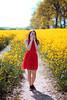 (j-kane) Tags: girl woman gal kobieta dziewczyna nature outside beauty pretty portrait legs face hair spring hot yellow smile shy red dress gown