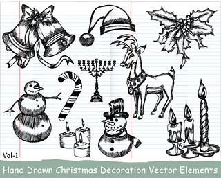 Xmas Series: Hand Drawn Xmas Elements