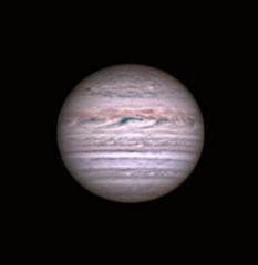 20180606 21-56UT Jupiter Europa Transit IRRGB (Roger Hutchinson) Tags: jupiter europa transit london astronomy astrophotography space celestronedgehd11 asi174mm televue powermate