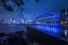 Sydney Harbour (Vivid 2018) (leonsidik.com) Tags: leon sidik sydney australia nsw newsouthwales vivid night long exposure water sea ocean reflection 2018 fujifilm ideas lights