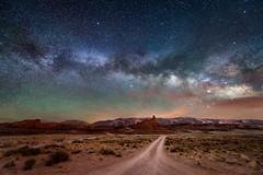 Milky Way over Mexican Hat Rock, Utah (diana_robinson) Tags: nikonflickraward milkyway nightphotography nightsky stars mexicanhat roadtonowhere dirtroad alone solitude noone mexicanhatrock utah
