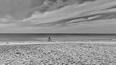 Lonesome beach biker (gerard eder) Tags: world travel reise viajes asia southeastasia burma birmania birma myanmar ngapali ngapalibeach beach paisajes panorama playa landscape landschaft tropical people peopleoftheworld bicycle biker wasser water outdoor blackandwhite blackwhite blancoynegro bw sw monochrome