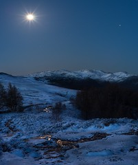 Nautical twilight - Walla Crag, Lake District (linda.m.davison@btinternet.com) Tags: greatbritain uk england cold frozen moonlit icy nauticaltwilight bleaberryfell winter snow ice moonlight borrowdale cumbria lakedistrict keswick scafellpike scafell wallacrag