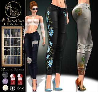 ***ArisArisB&W~Alus61~Adoration Jeans~VENDOR