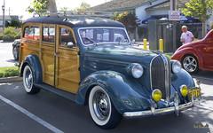 1938 Plymouth 4-Door Wagon (Pat Durkin OC) Tags: 1938plymouth 4door wagon whitewalltires woody woodie foglights