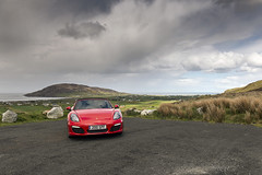 Mamore Red (syf22) Tags: car automobile auto autocar automotor motor motorcar motorised porsche boxster boxsters boxster981s porscheboxster porscheclubgb flat6 watercooled red guardsred mamoregap ireland eire