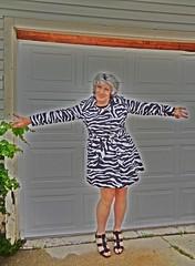 Laurette, Electrified! (Laurette Victoria) Tags: raincoat sandals silver laurette woman digital