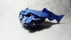Puffer (GGIamBatman) Tags: origami pairoflexia pez fish puffer papiroflexia