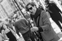 Johnny B. Goode (Frank Fullard) Tags: frankfullard fullard busker music johnnybgoode street candid portrait dublin irish ireland good goode guitar go rockandroll rock singer guitarist monochrome blackandwhite blanc noir