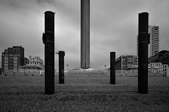 all rise....Brighton (stocks photography.) Tags: allrise brighton photographer beach seaside coast michaelmarsh britishairways i360 photography bw blackwhite