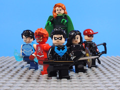 Titans (Rebirth Ver) (-Metarix-) Tags: lego minifig dc comics comic titans rebirth tempest flash nightwing donna troy arsenal omen custom minifigs