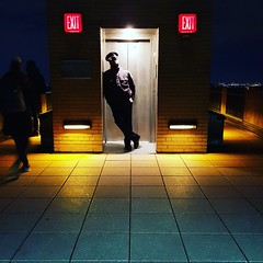Sup man? You cant pass. (Bastian_Schmidt) Tags: ny nyc newyork samsung night shot portrait art urban explore rockefellercenter