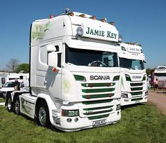 Jamie Key Scania R580 JK66KEY Peterborough Truckfest 2018 (davidseall) Tags: jamie key scania vabis r580 v8 jk66key jk66 truck lorry tractor unir artic large heavy goods vehicle lgv hgv peterborough truckfest show may 2018