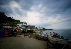 Steephill Cove (Sarah Marston) Tags: isleofwight steephillcove ventnor boats longexposure buoys beach clouds sony alpha a77 may 2018