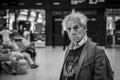 ...Where This Train Will Terminate (Leanne Boulton) Tags: urban street candid portrait portraiture streetphotography candidstreetphotography candidportrait streetportrait streetlife old elderly man male face eyes look mood emotion feeling tiredness hair rough tone texture detail depthoffield bokeh naturallight indoor light shade shadow city scene human life living humanity society culture lifestyle people canon canon5d 5dmkiii 70mm ef2470mmf28liiusm black white blackwhite bw mono blackandwhite monochrome glasgow scotland uk