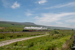 Steady climb (Matt.Evans44871) Tags: 45690 leander wcrc dalesman sc settle carlisle steam train railway locomotive west coast ais gill selside ribblehead dales cumbria yorkshire