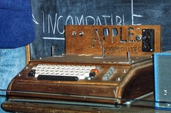 Washington DC - Smithsonian Industrial Museum - Apple Commuter 1 (Onasill ~ Bill Badzo) Tags: personal computer apple 1 stevejobs steve wozniak desktop 1976 company inc product palo alto ca california smithsonian museum washing dc display exhibit keyboard visitor travel tourist attraction site onasll nrhp first homebrew
