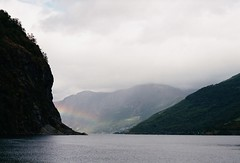 (mari-ann curtis) Tags: 35mm travel film memories wanderlust norway colour light shadows summer roadtrip 2017 flåm landscape nature rainbow fjord cloudy