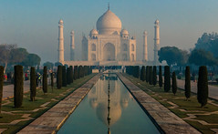 WahTaj! at Sunrise (Nishanth Vepachedu) Tags: taj mahal sunrise landscape symmetry d800 nikon dslr wide angel angle india scenic panorama