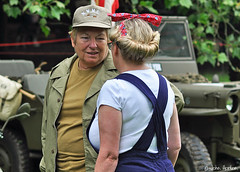 Ironbridge 1940's Gala (2018) 006 (Row 17) Tags: england shropshire ironbridge 1940s reenactment reenactor reenactors people women woman candid portrait nikon d90