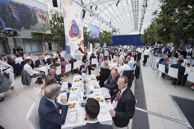 Attendees enjoy the Gala Dinner