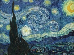 """""""The Starry Night"""" is an oil on canvas by the Dutch post-impressionist painter Vincent #vanGogh. Painted in June 1889, it depicts the view from the east-facing window of his asylum room at Saint-Rémy-de-Provence, just before sunrise, with the addition of (""""guerrilla"""" strategy) Tags: ifttt instagram """"the starry night"""" is an oil canvas by dutch postimpressionist painter vincent vangogh painted june 1889 it depicts view from eastfacing window his asylum room saintrémydeprovence just before sunrise with addition idealized village has been permanent collection museum modern art newyorkcity since 1941 acquired through lillie p bliss bequest 